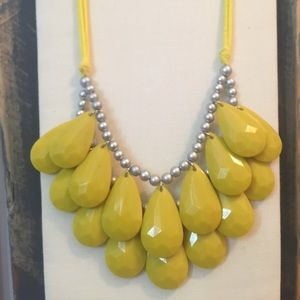 Yellow and grey Chunky Necklace